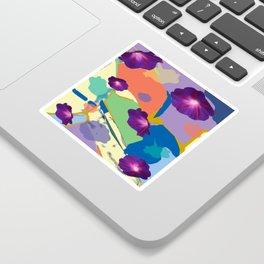 Morning Glory Collage Sticker