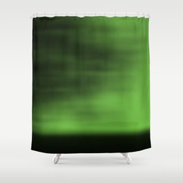 Blurred Sky-Green Shower Curtain