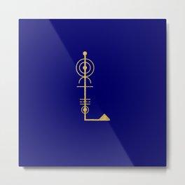 Sacred Geometry Letter L Metal Print