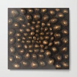 Golden Sea Shell Metal Print