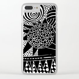 Psychedelic Cookies Clear iPhone Case