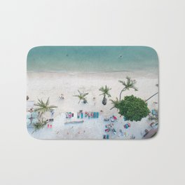 Aerial Koh Phangan Beach Bath Mat
