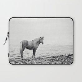 Horse in Icelandic Landscape Photograph Laptop Sleeve