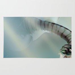 Loch Ness Scotland monster vintage travel poster Rug