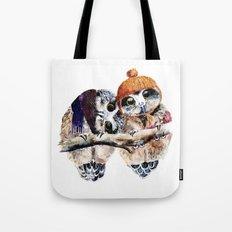 Winter Owls Tote Bag