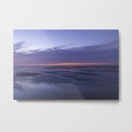 Vivid sunrise on the beach Metal Print