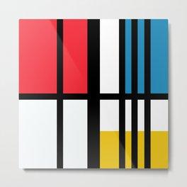 Thinking about Mondrian Metal Print