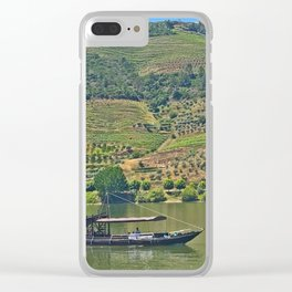 Views of the Douro wine country, off the Douro River, while lunching Clear iPhone Case