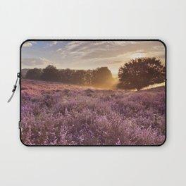 I - Blooming heather at sunrise, Posbank, The Netherlands Laptop Sleeve