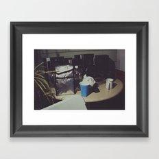Table items Framed Art Print