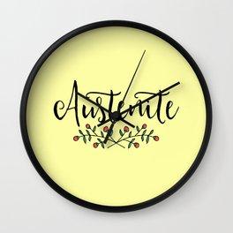Jane Austen Floral Austenite Wall Clock