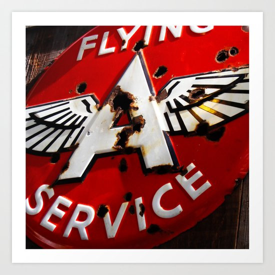 Flying A Service Art Print