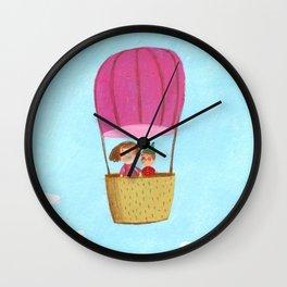 Hot Air Love Ballon Wall Clock