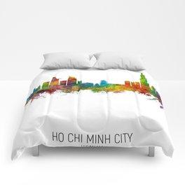 Ho Chi Minh City Vietnam Skyline Comforters