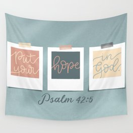 Hope in God Wall Tapestry