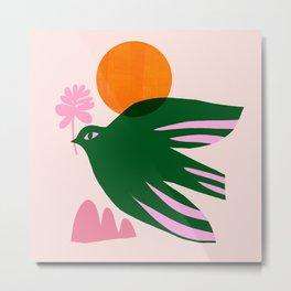 Abstraction_BIRD_SUN_Beautiful_Day_Minimalism_001 Metal Print