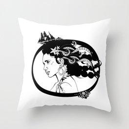 Pirate Nereid Throw Pillow