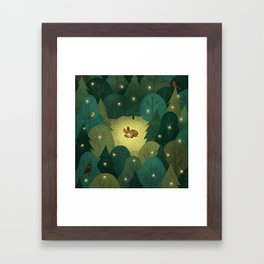 Enchanted Forest Baby Fawn Framed Art Print