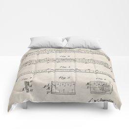 Engineering Patent - Engineers Slide Rule Art - Antique Comforters