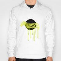 zebra Hoodies featuring Zebra by ministryofpixel