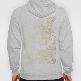Wilkes-Barre Gold and White Map Hoody