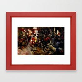 Polish Winged Hussars Framed Art Print