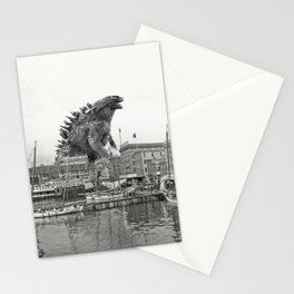 Godzilla and King Kong Rumble in Baltimore Stationery Cards