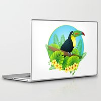 toucan Laptop & iPad Skins featuring toucan by Li-Bro