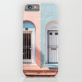 TWO WHITE WOODEN DOORS WITH GRILLS iPhone Case