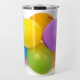 happy birth day color balloons Travel Mug
