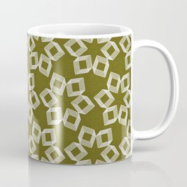 Silver Foil Boxes in Boxes Starburst Petals in Dusty Brown Linen Coffee Mug