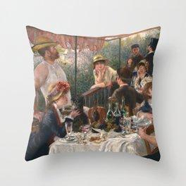 Auguste Renoir - Luncheon of the Boating Party (Le déjeuner des canotiers) Throw Pillow