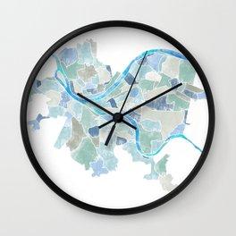 Pittsburgh Neighborhoods Wall Clock