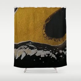 Golden river Shower Curtain