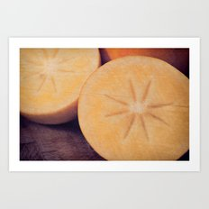 Persimmon Star Art Print