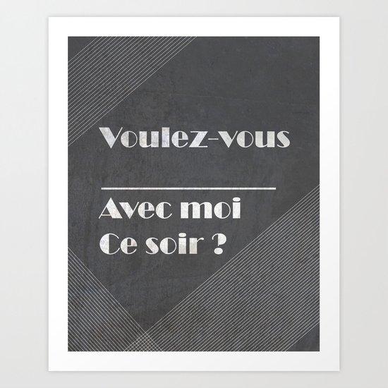 voulez-vous ______ Art Print