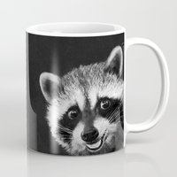 raccoon Mugs featuring Raccoon  by Laura Graves
