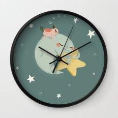 Moon Nap Wall Clock