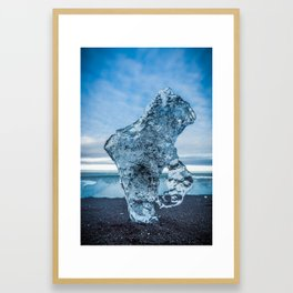 Ice Portrait in Iceland Framed Art Print