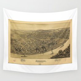 Aerial View of Duquesne, Allegheny County, Pennsylvania (1897) Wall Tapestry