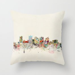phoenix arizona skyline Throw Pillow