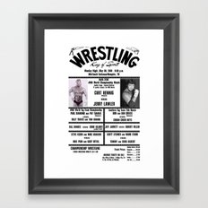 #13 Memphis Wrestling Window Card Framed Art Print