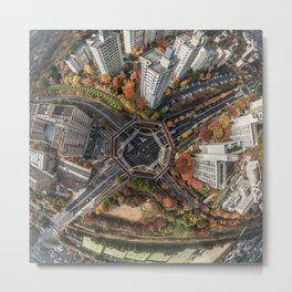 Kyoto Japan skyview Metal Print