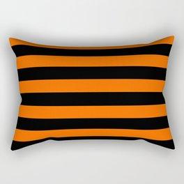 Black & Orange Stripes Rectangular Pillow
