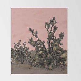 pink joshua tree Throw Blanket