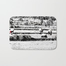 Rice field Bath Mat