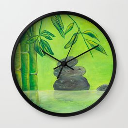 Bamboo Pond Wall Clock