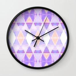 Art Deco Triangles Light Purple Wall Clock