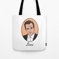 bees Tote Bags featuring Bees. by Hard Lily