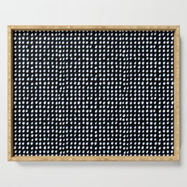 Dots (Shadowed) - White x Blue Serving Tray